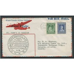 Newfoundland First Flight Stamp Cover 1942