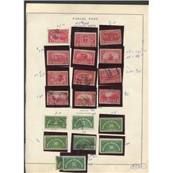 USA 1913-29 Parcel Post Stamp Collection