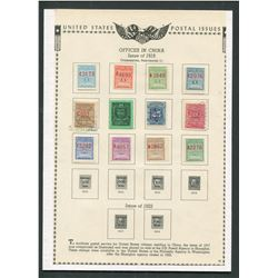 USA 1919 Offices in China Stamp Collection