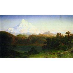 Mt. Hood Oregon by Albert Bierstadt