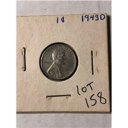 1943 D WWII Steel Wheat Penny in Nice Condition