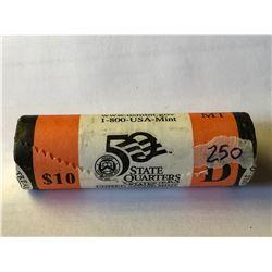 10 Dollar Roll US Mint Montana D State Quarters