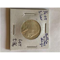 999 Fine Silver Buffalo Cheif 1/4oz Silver Bullion Coin