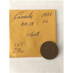 1930 Canada 1 Cent Very Good Grade