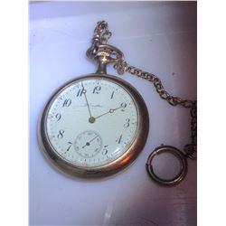 Vintage HAMILTON Pocket Watch Running has Chain