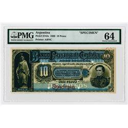 Banco Provincial De Cordoba,1889, 10 Pesos Specimen Banknote.