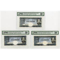 Commonwealth of Australia, Reserve Bank, ND (1960-65) Attractive Banknote Trio.