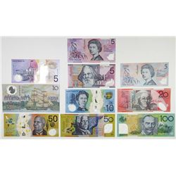 Reserve Bank of Australia, 1988 to 2000 Polymer Banknote Assortment.