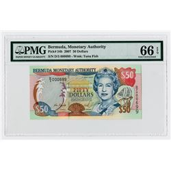 Bermuda Monetary Authority, 2007 Issue Note.
