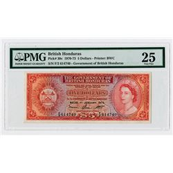Government of British Honduras, 1973 Issue Banknote.