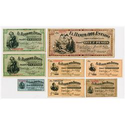 Banco Del Estado, 1900 Regular Issue Assortment.