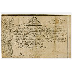 Copenhagen Notes, Exchange and Mortgage Bank, 1784 Banknote.