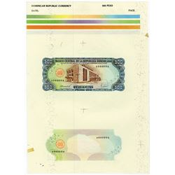 Banco Central De La Republica Dominicana. 1988. Essay Proof Sheet.