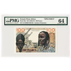 French West Africa - Togo, ND (1956-57) Specimen Banknote.