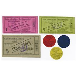 Germany. Notgeld, Officer POW Camp in Halle, 1916. Set of 6 different.
