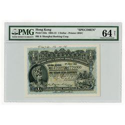 Hong Kong & Shanghai Banking Corp., 1913 Specimen Banknote.