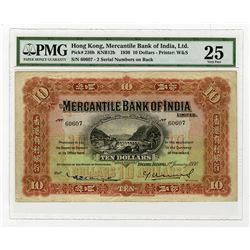 Mercantile Bank of India, 1930 $10 Issue Banknote Rarity.