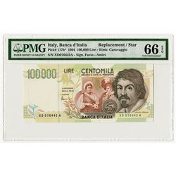 Banca d'Italia, 1994 Issue Replacement  / Star Note.