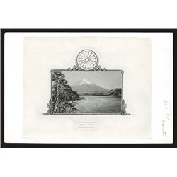 Imperial Japanese Government, 1920-30's Proof Vignette of Mount Fuji Used on Japanese bonds.