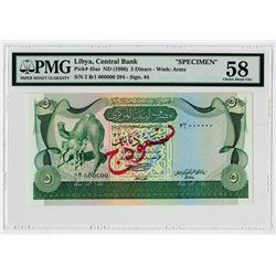Central Bank of Libya. ND (1980). Specimen Banknote.