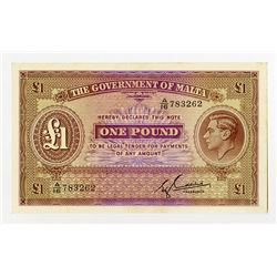 Government of Malta, ND (1940) Issue Banknote.