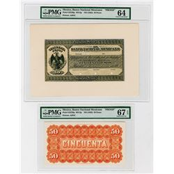 Banco Nacional Mexicano. ND (1882) Issue Proof Face & Back Banknote.