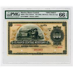 Bono De Caja, Banco Central Mexicano, ND (ca.1899-1908) Specimen Bono De Caja Rarity