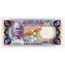 Bank of Sierra Leone. 1975. Specimen Banknote.