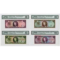 Central Bank of Trinidad and Tobago 1964, 3 Color Trial Specimens and single Specimen
