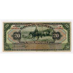Banco De Venezuela, ND (ca.1931-38) Partially Issued Banknote.