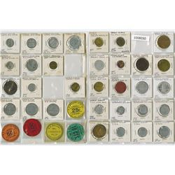 Georgia Token Collection of between 140 to 145 Pieces ca. 1890 to 1970's.