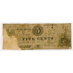 Batsto Works. 1858. Obsolete Scrip Note.