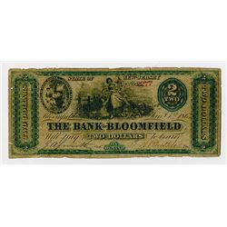 Bank of Bloomfield. 1863. Obsolete Note.