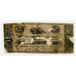 Bridgeton Glass Works. 1837. Obsolete Scrip Note.