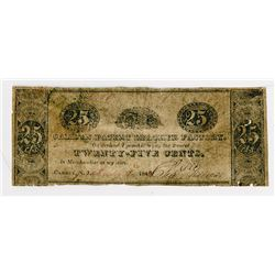 Camden Patent Leather Factory. 1840. Obsolete Scrip Note.