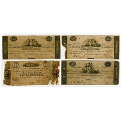 State Bank at Camden. 1820's. Quartet of Obsolete Notes.
