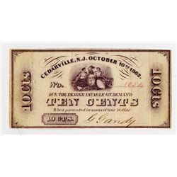 G.Gandy. 1862. Obsolete Scrip Note.