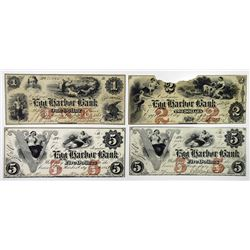 Egg Harbor Bank. 1861. Quartet of Obsolete Notes.