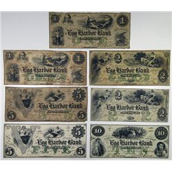 Egg Harbor Bank. 1861. Septet of Obsolete Notes.