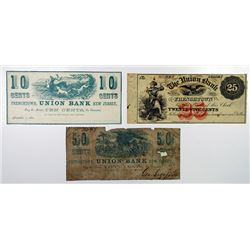 W. Uhler, O. Wyman, and George Sigafooz. 1862. Trio of Obsolete Notes.