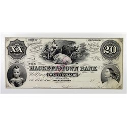 The Hackettstown Bank. 18xx. Obsolete Note.