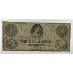 Bank of America. 1862. Obsolete Note.