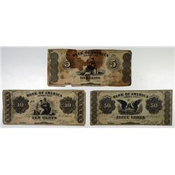 J.Winn & Co.(New York). 1862. Trio of Obsolete Notes.