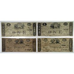 Jersey Bank. 1825. Quartet of Obsolete Notes.