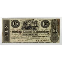 Morris Canal & Banking Co. 1837. Obsolete Note.