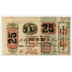 Kaighn & Stone. 1862. Obsolete Scrip Note.