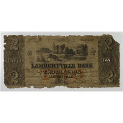 Lambertville Bank. 1855. Obsolete Note.