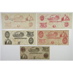 S.W. & W.Torrey. 1861, Quintet of Obsolete Notes.