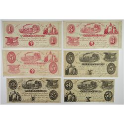 S.W. & W.A. Torrey. 1861. Sextet of Obsolete Notes.