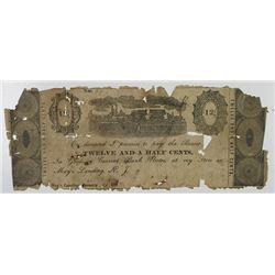 May's Landing, New Jersey. Samuel Goforth Jr. 1833. Obsolete Note, Extremely Fragile.